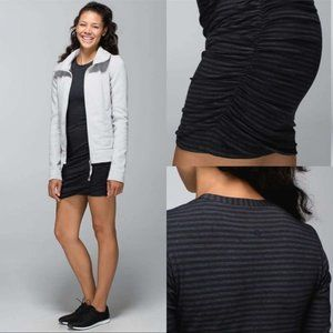 Lululemon Anytime Dress in Classic Stripe Black